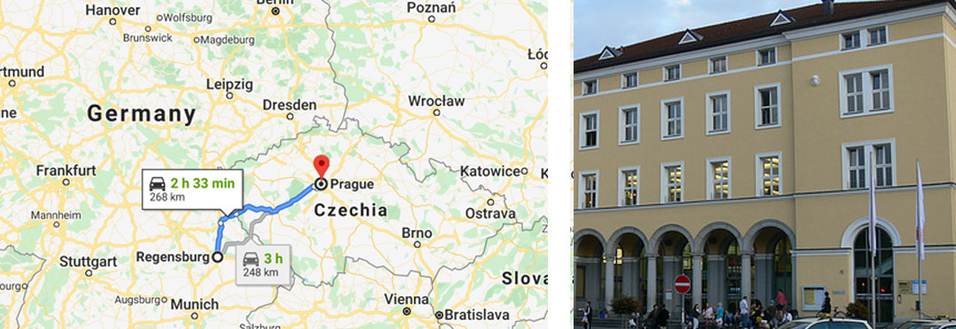 Regensburg Germany to Prague